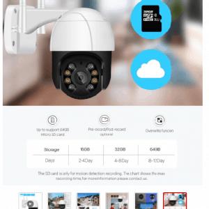 Trådlös Övervakningskamera med Rörelsedetektion